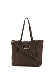 Tod's Double T Large Shopping Bag Brown