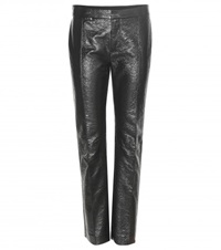Marc By Marc Jacobs Faux Leather Trousers Black