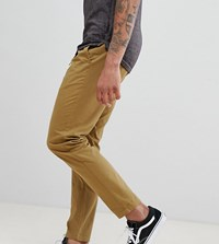 D Struct Tall Elastic Waist Cropped Chino Trousers Green