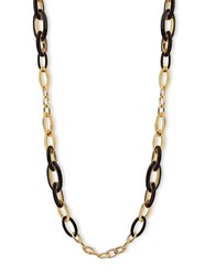 Anne Klein Dual Toned Chain Link Necklace Black