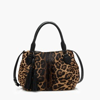 J.Crew Collection Peyton Bag In Calf Hair Golden Leopard