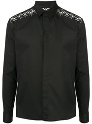 Haider Ackermann Formal Shirt With Lace Inserts Black