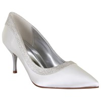 Rainbow Club Maddie Satin Court Shoes Ivory