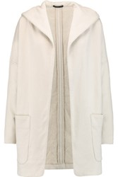 James Perse Cotton Jersey Hooded Jacket Ecru