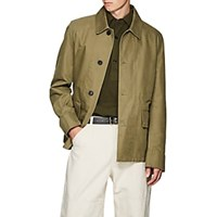 Margaret Howell Cotton Twill Military Jacket Green