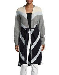 Vero Moda Chevron Duster Cardigan Blue
