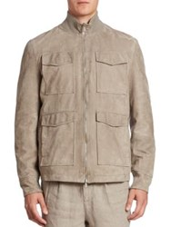 Brunello Cucinelli Suede Safari Jacket Taupe
