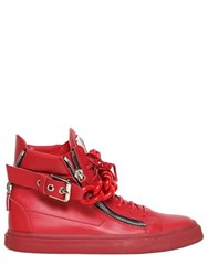 Giuseppe Zanotti Chain Bangle Leather High Top Sneakers