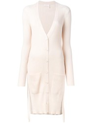 See By Chloe Ribbed Mid Cardigan Nude Neutrals