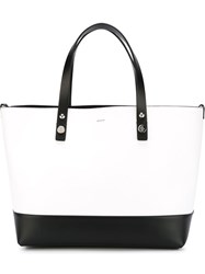 Moncler Colour Block Shopper Tote White