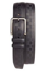 Mezlan Men's Check Leather Belt