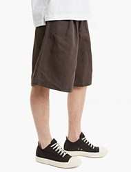 Comme Des Garcons Charcoal Oversize Pleated Shorts Multi