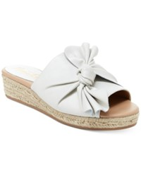 Nanette Lepore By Dominik Knotted Wedge Flats Women's Shoes Ice