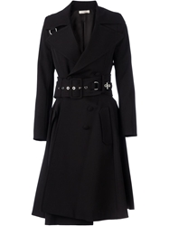 Bouchra Jarrar Belted Trench Coat Black