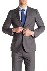 Tommy Hilfiger Gray Sharkskin Wool Two Button Notch Lapel Sport Coat
