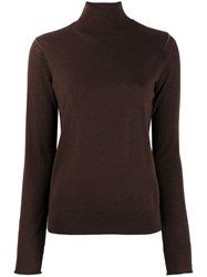 Joseph Turtle Neck Sweater Brown