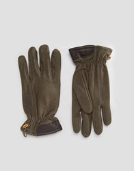 Timberland Suede Leather Gloves Brown