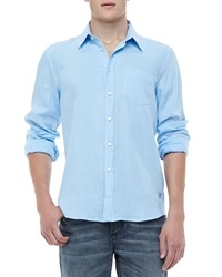 Vilebrequin Linen Long Sleeve Linen Shirt Light Blue