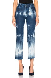 Stella Mccartney Tie Dye Denim Trousers In Blue Ombre And Tie Dye Blue Ombre And Tie Dye