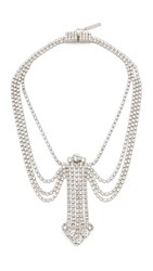 Marc Jacobs Statement Crystal Necklace Crystal Antique Silver