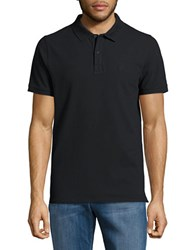 Selected Stretch Cotton Polo Black