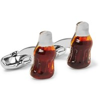 Paul Smith Cola Bottle Silver Tone And Resin Cufflinks