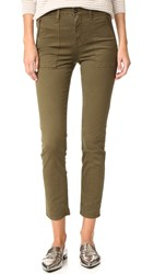 Ag Jeans The Kinsley Utilitarian Modern Skinny Sulfur Palm Green