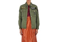 Marc Jacobs Women's Embellished Cotton Military Jacket Green