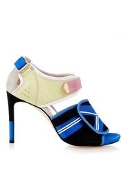 Preen Wave Colour Block Suede Sandals