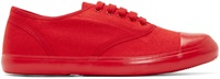 Christian Peau Red Canvas Low Top Sneakers
