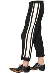 Haider Ackermann Cropped Wool Pants With Side Bands