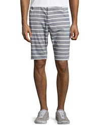 Howe Regular Fit Striped Walking Shorts Commodore