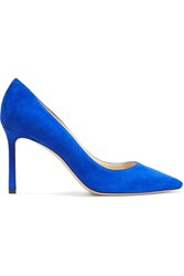 Jimmy Choo Romy Suede Pumps Cobalt Blue