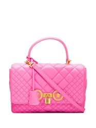 Versace Quilted Icon Shoulder Bag Pink
