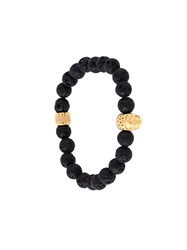 Northskull Beaded Skull Bracelet Black