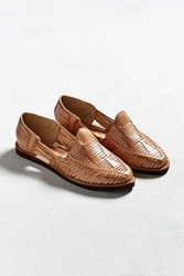 Chamula Cancun Huarache Woven Leather Shoe Tan