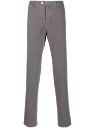 Kiton Straight Leg Trousers Grey