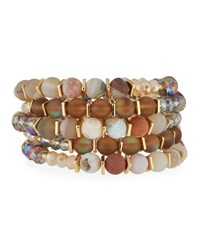 Emily And Ashley Multi Row Simulated Crystal Wrap Bracelet Gray
