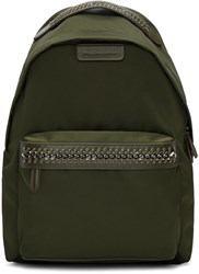 Stella Mccartney Green Nylon Chain Backpack
