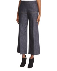 Derek Lam Side Zip Denim Gaucho Pants Indigo