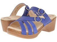 Dansko Shelby Cobalt Full Grain Women's Sandals Blue