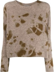 Suzusan Relaxed Fit Cashmere Jumper Brown