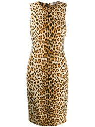 Roberto Cavalli Leopard Print Fitted Dress 60