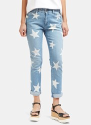 Stella Mccartney Star Print Slim Leg Jeans Blue