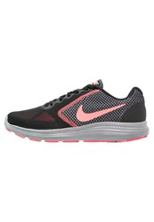 Nike Performance Revolution 3 Neutral Running Shoes Black Lava Glow Hot Punch Cool Grey
