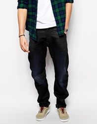 G Star Jeans New Riley 3D Loose Tapered Dark Aged Blue