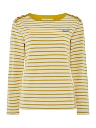 Brakeburn Bella Long Sleeve Crew Neck Top Yellow
