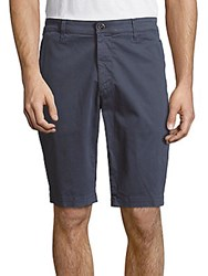 Ag Adriano Goldschmied Griffin Cotton Shorts Shadow Blue