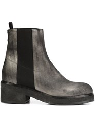 Chuckies New York Stacked Sole Ankle Boots Grey