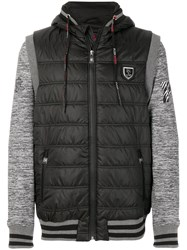 Plein Sport Panelled Sleeves Quilted Jacket Polyester Xxl Black